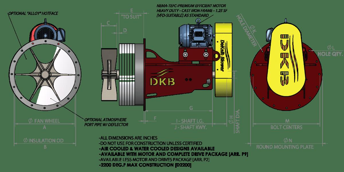 C Plug Fan Square Flange Diagram