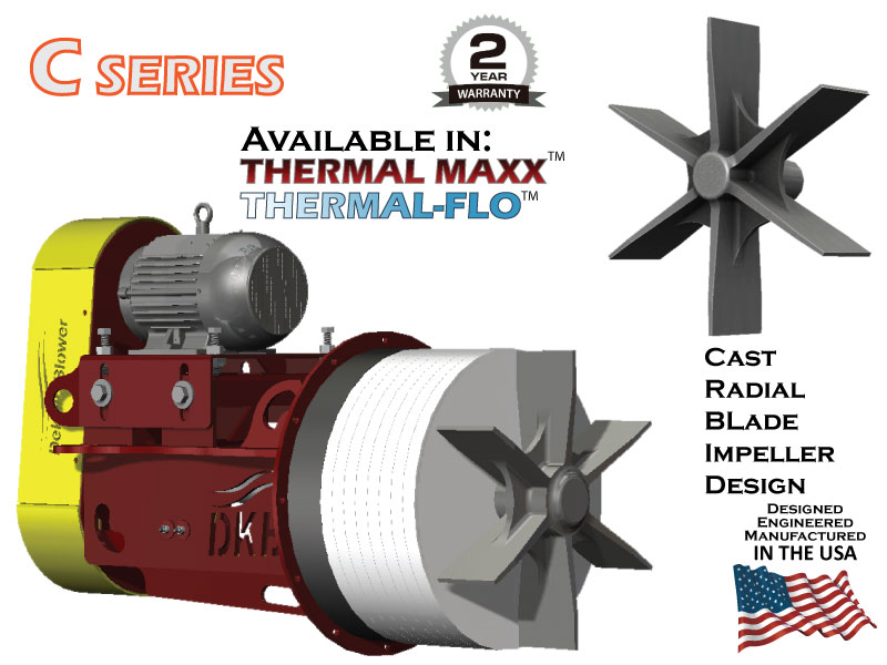 DeKalb Blower C Series - Cast Radial Blade Impeller Design