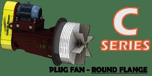 C Plug Fan Round Flange Upper Image