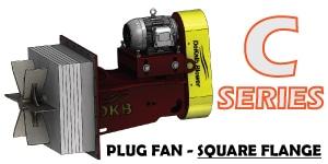 C Series - Square Flange Plug Fan Image