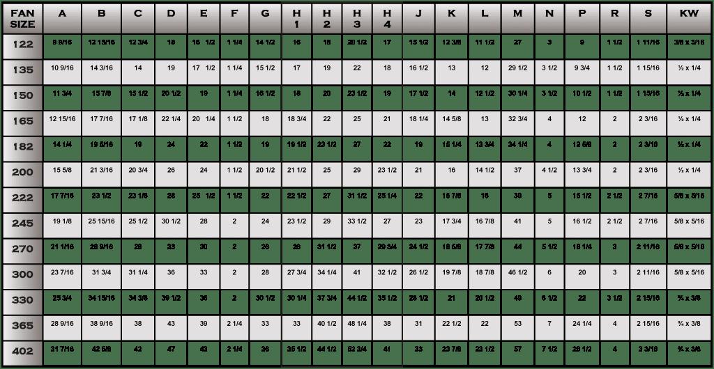 FHD Air Diffuser Housing Table pg34