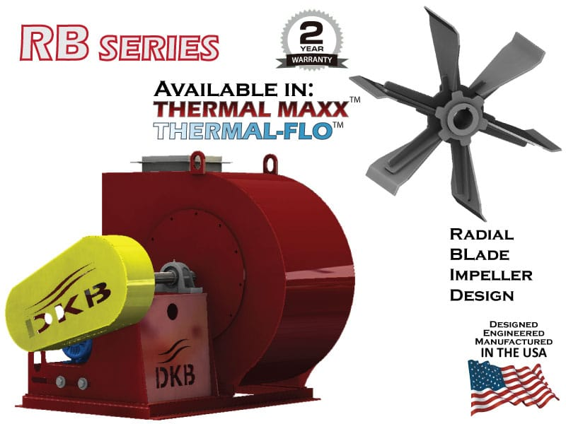 DeKalb Blower RB Series - Radial Blade Impeller Design